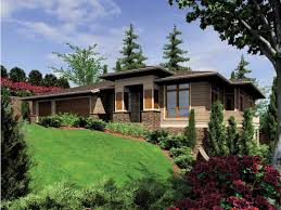 front sloping lot house plans eplans contemporary modern house plan contemporary plan for a