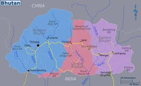 World Regions Map by Maps Of Bhutan Detailed Map Of Bhutan In English Tourist Map