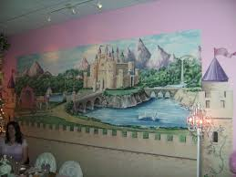 relevant tea leaf isabella and brooke at tea party castle fairytale wall murals