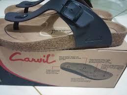 terjual sandal carvil falkland brown mulus murah makassar 120k