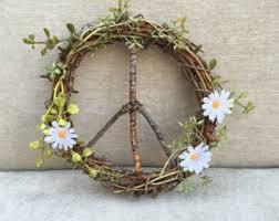 Grapevine Floral Design Home Decor The Peace Sign Wreath 10 Inch Wreath Door Wreath Grapevine