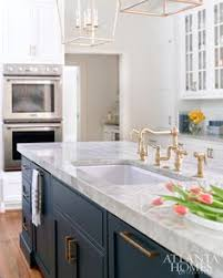 Blue Kitchen Countertops by White And Blue Kitchen Features White Cabinets Painted Benjamin