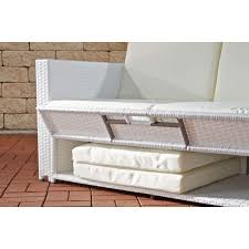 2er sofa weiãÿ sofa cp041 2 sitzer poly rattan weiß