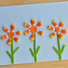 flower candy corn craft