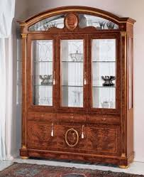 3 Door Display Cabinet Display Cabinet Made Of Ash With Glass Doors Classic Style