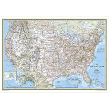 Map Of United States With Interstates by Us Wall Maps Laminated Us Map Posters National Geographic Store