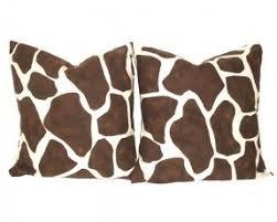 Giraffe Print Home Decor Animal Print Pillow Covers Foter