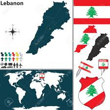 Lebanon On World Map by Map Of Lebanon With Regions Coat Of Arms And Location On World