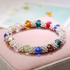 crystal charm bracelet beads images Jewelry rainbow charm bracelet new crystal beads bangles candy jpg
