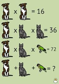 each animal represents a number can you solve the problem that