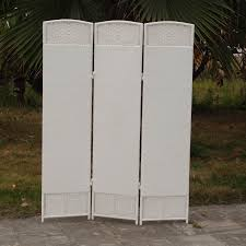 Outdoor Room Dividers Outdoor Indoor Woven Resin 3 Panel Room Divider White Walmart
