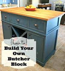 kitchen butcher block islands movable butcher block kitchen island how to build your own butcher