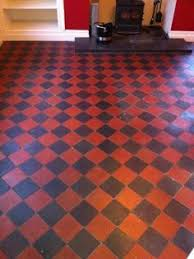 Red And Black Kitchen Tiles - a customer called me out to take a look at restoring the red and