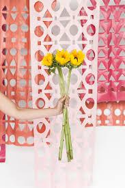 wedding backdrop modern geometric diy papercut backdrop for a wedding or bridal shower