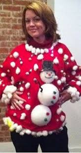 The Ugly Christmas Sweater Party - ugly red christmas sweater party winner naughty pretty funny