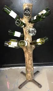 tree trunk wine rack by southgalawyer lumberjocks