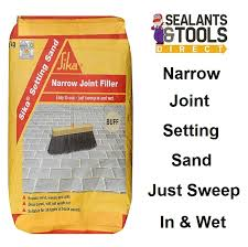 Patio Jointing Compound Sika Setting Sand Narrow Joint Filler 20kg Buff Paving Jointing