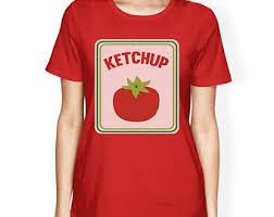 Ketchup Halloween Costume Ketchup Tshirt Etsy