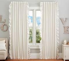 White Ruffle Curtain Panels White Ruffle Blackout Curtains Scalisi Architects