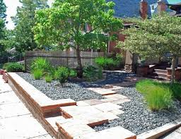 Front Yard Landscaping Without Grass - simple front yard landscape design ideas no grass with gravels