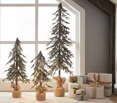 flocked tree green flocked trees pottery barn kids
