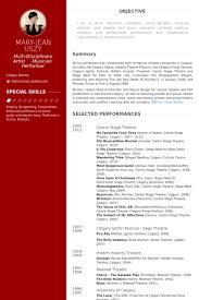 Actor Resume Samples by Actor Resume Samples Visualcv Resume Samples Database