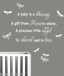 blessing baby nursery wall sticker quote a baby is a blessing boy or girl