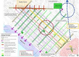 seattle map traffic belltown streetscape study makers architecture and design