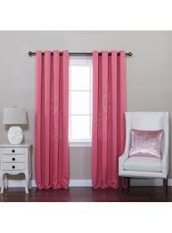pink chandelier punch out blackout curtains 84