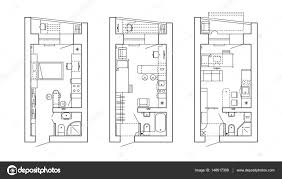 floor plan of a kitchen architectural plan of a house layout of the apartment with the