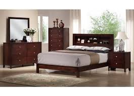 studio montana mahogany brown wood 5pc modern bedroom set