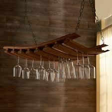 Wine Glass Holder Under Cabinet Furniture Gorgeous Barrel Hanging Wine Glass Rack For Stemware