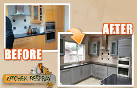 how much does it cost to respray kitchen cabinets kitchen respray farrow and ball manor house grey kitchen respray
