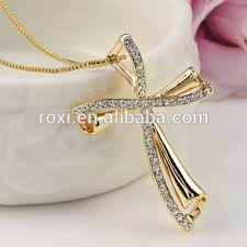gold necklace new design images China wholesale roxi new design eleglant cross shape gold necklace jpg