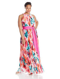eliza j dresses eliza j women s plus size pleated sleeveless maxi dress women