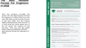 Best Resumes Format by The Best Resume Format For Engineers In 2016