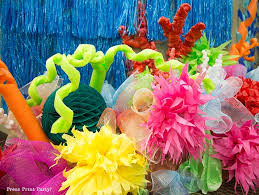 coral reef decoration press print party