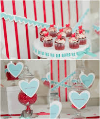 heart theme wedding inspiration red with pop of mint