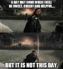 Aragorn Meme - aragorn in battle meme generator imgflip