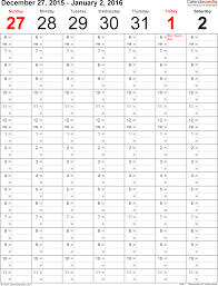 weekly calendar 2016 for word 12 free printable templates template