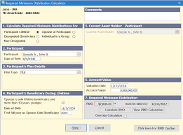 rmd single life table rmd calculator dialog