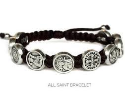 catholic bracelets saints jewelry etsy