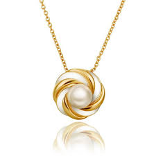 necklaces for wholesale classic 24k gold plated pearl necklaces for women pp017