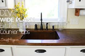 diy wide plank butcher block counter tops simplymaggie com diy wide plank butcher block counter tops