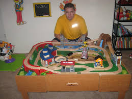 kidkraft train table compatible with thomas train set table with drawers toys r us imaginarium classic train