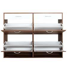 nilkamal kitchen furniture shoe cabinet rack walnut and white zuari smart finish argos