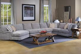 living room brown microfiber couch gray light grey tufted sofa