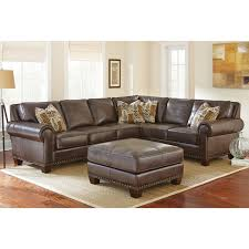 Silver Leather Sofa by Steve Silver Escher Sectional With Optional Ottoman Hayneedle