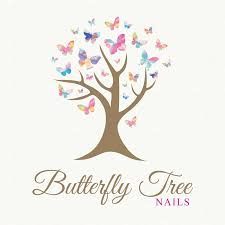 butterfly tree nails