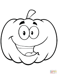 Free Coloring Pages For Halloween To Print by Cartoon Halloween Pumpkin Coloring Page Free Printable Coloring